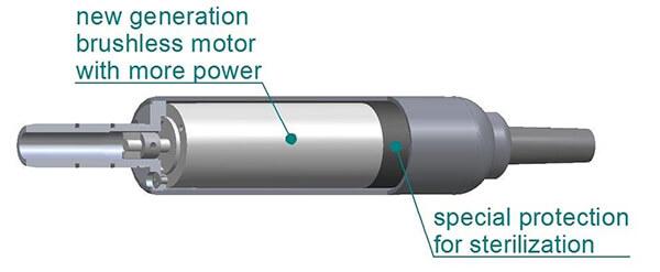 موتور براسلش ایمپلنت BLDC