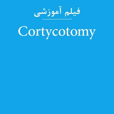 فیلم آموزشی Cortycotomy